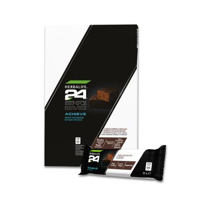 Batoane Proteice H24 Achieve - Ciocolată Neagră (6 batoane)
